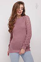 Вязаный женский свитер Кивана-3 из хлопка