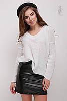 Женский свитер из шерсти и акрила Личи-3 с люрексом
