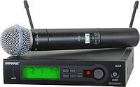 Радиомикрофон Беспроводный микрофон радиосистема  SHURE SLX24 Beta58 с базой UHF