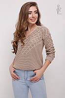 Вязаный женский свитер Мамея-1 из хлопка