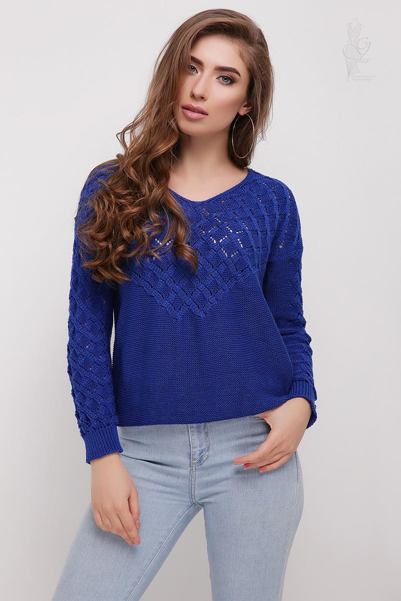 Вязаный женский свитер Мамея-4 из хлопка