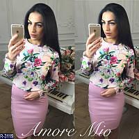 """Костюм женский (42-44) """"AmoreMio"""" - купить оптом со склада 2P/RVS-1335/2"""