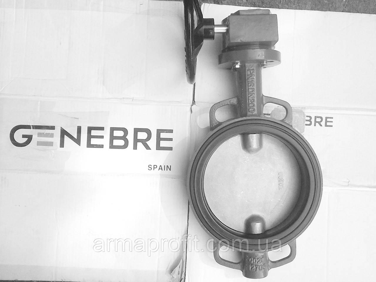 Затвор поворотный Баттерфляй GENEBRE тип 2109 Ду350 Ру10 диск нержавеющая сталь (с редуктором )