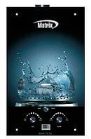 """Газовий проточний водонагрівач Matrix принт """"вода"""" (стекло)- 10 л\мин"""