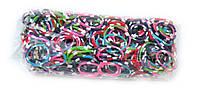 Разноцветные резинки для плетения Rainbow loom в точечку