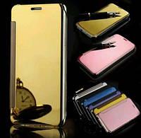 Чехол книжка для Iphone 6 6S Plus дзеркальний золотий зеркало флип на айфон