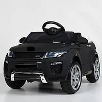 Детский электромобиль Джип КХ1313 Land Rover сиденье кожа, колёса EVA резина, дитячий електромобіль, чёрный