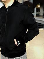 Бомбер мужской, куртка весенняя, летняя, черный