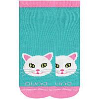 Детские короткие носки с котиком, Duna, морская волна, 18-20 (27-30)