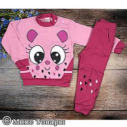 Костюм с брюками на резинке для девочек Размеры: 1,2,3,4 года (6360-3)