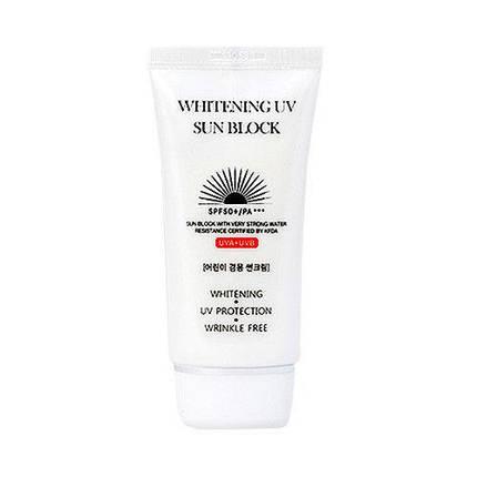 Осветляющий солнцезащитный крем Jigott Whitening UV Sun Block SPF 50+/PA+++, 70 мл, фото 2