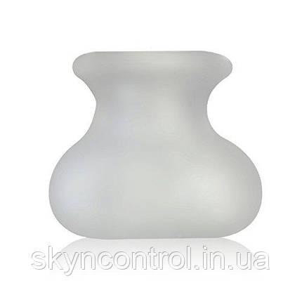 Perfect Fit - Bull Bag Насадка для мошонки 24см чёрный и белый мешочек-утяжелитель, фото 2