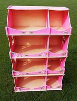 Кукольный домик-шкаф с росписью (розовый), фото 1