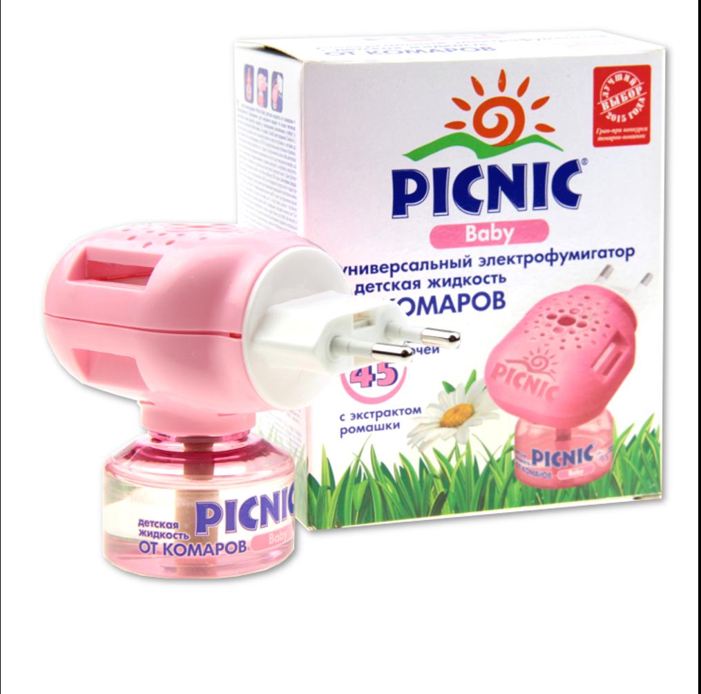 Комплект от комаров для детей Picnic Baby электрофумигатор + жидкость 45ночей