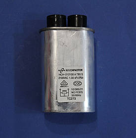Конденсатор высоковольтный 1mkF 2100V для микроволновой печи