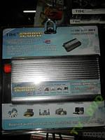Преобразователь авто инвертор 24V-220V, 1200W +USB