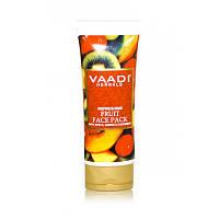 Освежающая фруктовая маска для лица VAADI с яблоком, лимоном и огурцом 120 гр