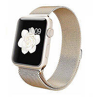 Ремешок для Apple watch 42mm Milanese Loop Metal золотой