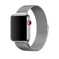 Ремешок для Apple watch 42mm Milanese Loop Metal Silver (серебро)