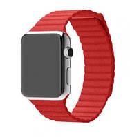 Ремешок для Apple watch 38mm Leather Loop красный