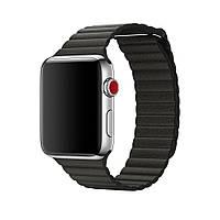 Ремешок для Apple watch 38mm Leather Loop Charcoal grey (темно серый)