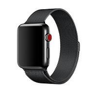 Ремешок для Apple watch 42mm Milanese Loop Metal blacke