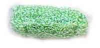Зеленые резинки для плетения Rainbow loom в точечку
