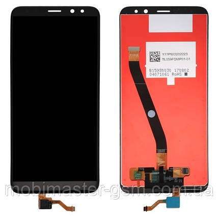 LCD модуль Huawei Mate 10 Lite / Nova 2i (RNE-L01, RNE-L21) черный, фото 2