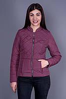 Женская куртка Шанель 4, цвет марсала, весна-осень