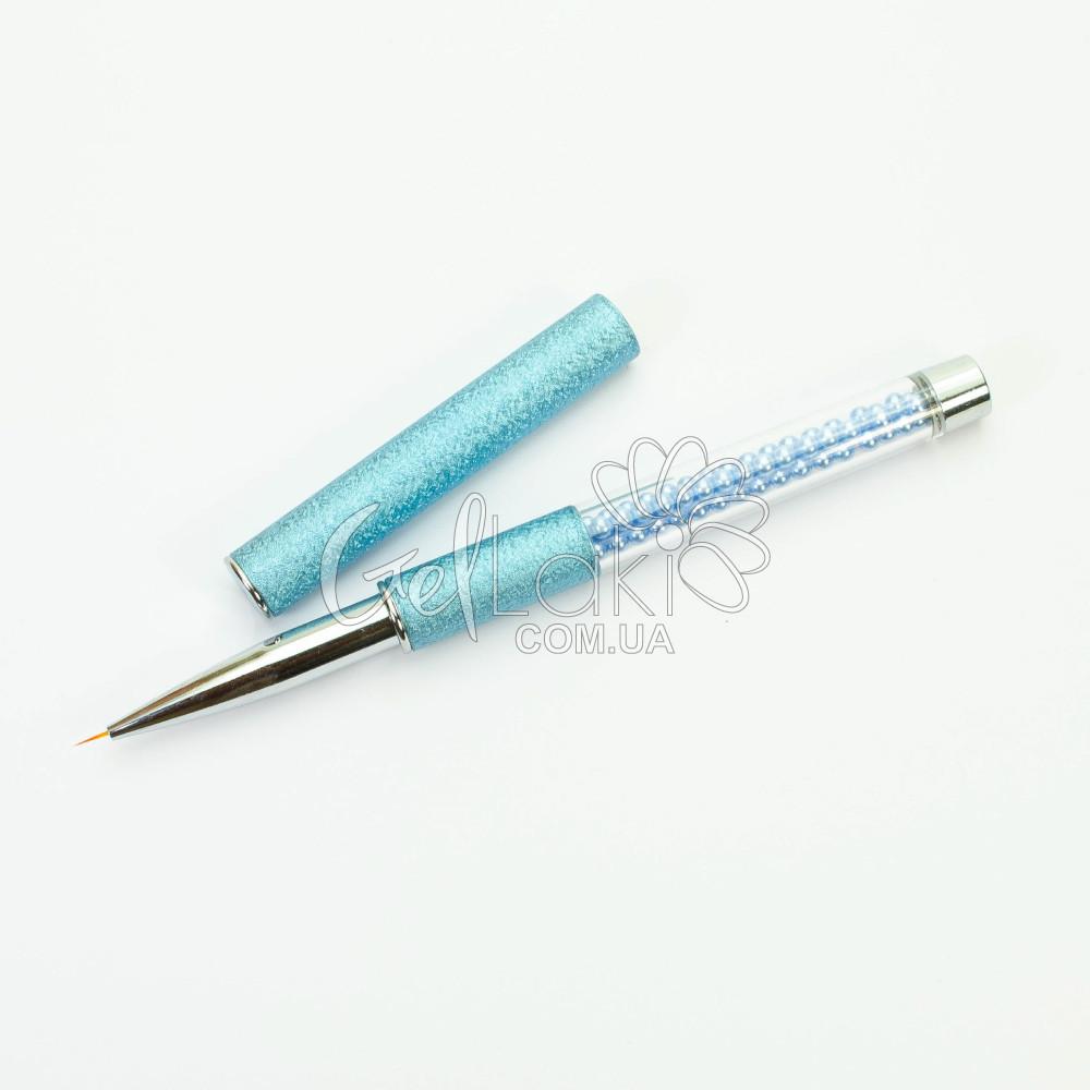 Кисть-лайнер для дизайна ногтей (в тубе), 5 мм