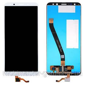LCD модуль Huawei Mate 10 Lite, Nova 2i, RNE-L01, RNE-L21 белый