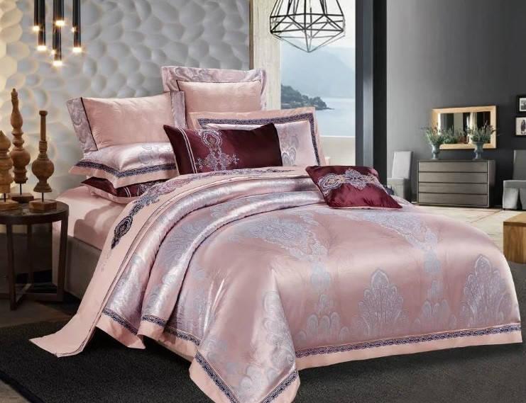 Евро комплект постельного белья сатин-жаккард Милена