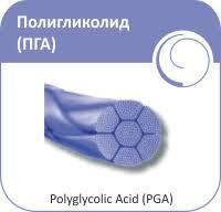 Полігліколід  0  зворотньо-ріжуча 75см