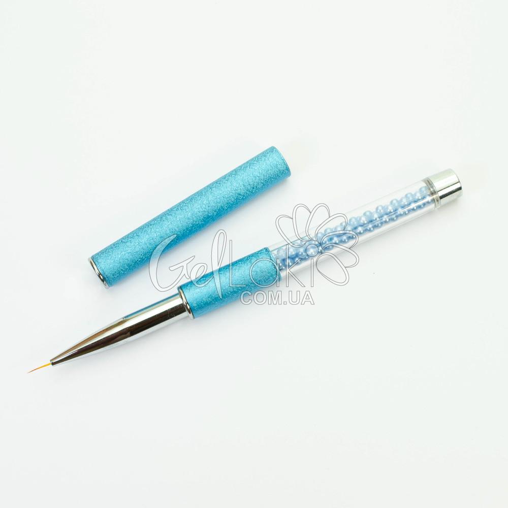 Кисть-лайнер для дизайна ногтей (в тубе), 7 мм