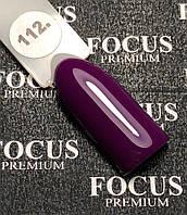 Гель-лак FOCUS Premium №112 (фиолетовый, эмаль), 8 мл