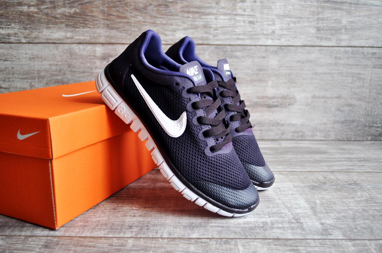 79483141 Женские кроссовки Nike Free Run 3.0 темно фиолетовые (Реплика ААА+) ...