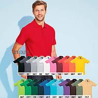 Рубашка поло мужская SOL'S SUMMER II Франция 21 цвет 100% гребной ПИКЕ хлопок плотные 170 г/м2