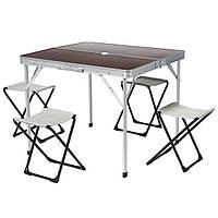 Садовый стол книжка для кемпинга + 4 раскладных стульчика