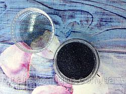 Блестки голографические, черные №101