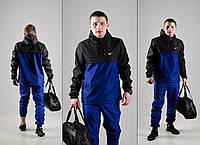 Комплект Анорак сине-черный + штаны синие, Nike, мужской весенний, фото 1