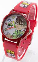 Детские кварцевые наручные часы, красные