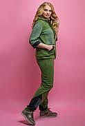Женский летний спортивный костюм Кэри, цвет хаки / размер 54,56,58,64 / большие размеры, фото 3