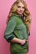 Женский летний спортивный костюм Кэри, цвет хаки / размер 54,56,58,64 / большие размеры, фото 4