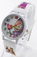 Детские кварцевые наручные часы, белые