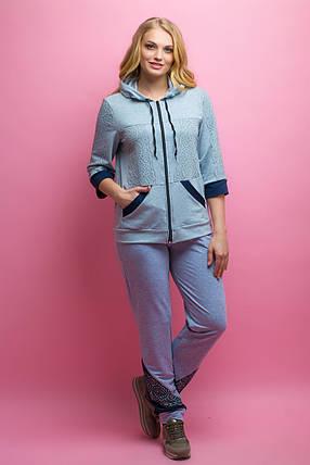 Женский летний спортивный костюм Кэри, цвет серый   размер 52-64   большие  размеры fad3cc23b2d