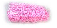 Розовые резинки для плетения Rainbow loom в точечку