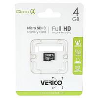 MicroSDHC 4Gb VERICO (4class) with adapter