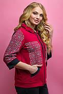 Женский летний спортивный костюм Кэри, цвет бордо / размер 64 / большие размеры, фото 3