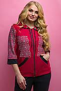 Женский летний спортивный костюм Кэри, цвет бордо / размер 64 / большие размеры, фото 5