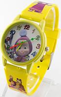 Детские кварцевые наручные часы, желтые